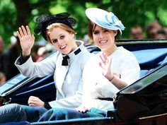 Princesses Beatrice and Eugenie at The Trooping the Colour Ceremony 2013