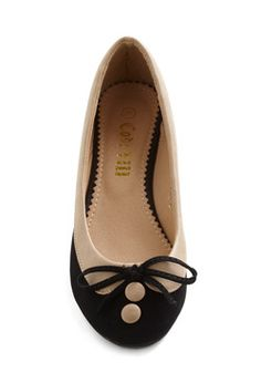 Collar Me Maybe Flats in Coal Cover  only $29.99 super cute!