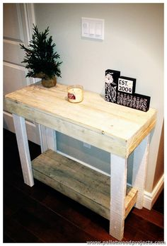 Wooden Pallet Console Table Mehr