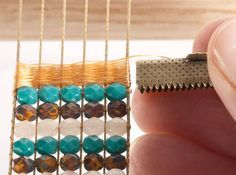 How to finish the ends of a bead loom piece, genius idea!!