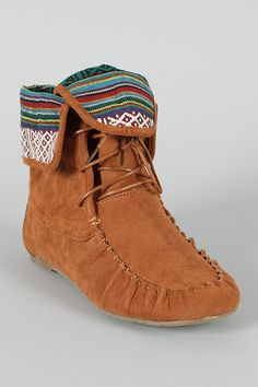 Sam-77 Lace Up Moccasin Flat Boot... shooooooot. they're only $26.80. probably going to spend all weekend thinking about these.