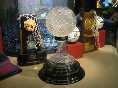 """National Championship Trophies in Allen Fieldhouse  for the University of Kansas Jayhawks Men's Basketball in the Booth Hall Lawrence """"There's No Place Like Home"""" Kansas. Rock Chalk Champions."""