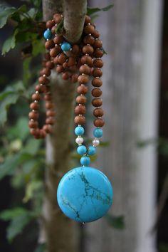 Chalk Turquoise Mala - Meditation Inspired Yoga Beads via Etsy