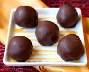 Chewy Caramel Truffles  http://candy.about.com/od/chocolatetrufflerecipes/r/carameltruffles.htm