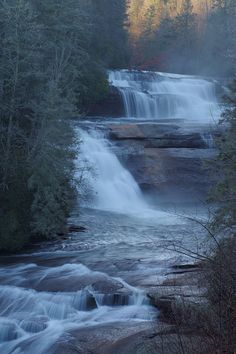 Triple Falls at DuPont State Recreational Forest, a waterfall near Brevard & Asheville North Carolina
