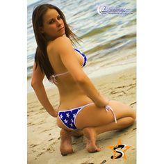 Motion Compedtition style triangle top and tie side bottom bikini swimsuit - Starwear.us Swimwear
