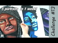 PORTRAIT Painting Challenge! | 2020 Art Challenge #13 - YouTube Art Challenge, Challenges, Portrait, Youtube, Painting, Painting Art, Portrait Illustration, Paintings, Painted Canvas