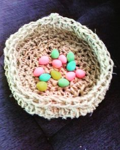 $10 hemp basket table top perfect for Easter