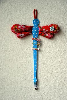 Haarspangenhalter Libelle inkl. 1 Haargummi - Haarspangenhalter von bloomet - Haarspangen - Kinderaccessoires - DaWanda