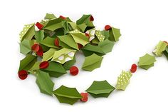 Scrapbook Paper-Holly Berry Garland