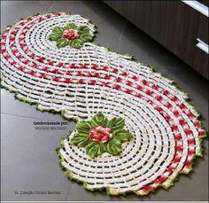 centro de mesa em croche com flores em croche com receitas
