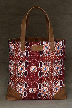Ethnic Australian bag tote bag fabric bag by PoshetByAnaNogueira