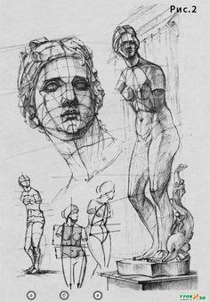 proportion, sculpture, Venus de Medici / пропорции скульптуры Венера Медичи
