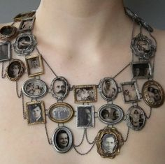 Necklace with portraits