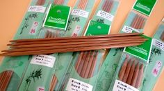 "1037 ChiaoGoo  8"" Bamboo DPN Sizes 1-15"
