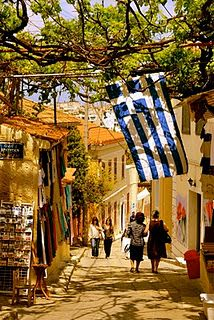 The serene neighborhood of Plaka, Athens, Greece