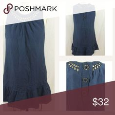"""HP 6/22 NWOT Miss Me Navy Trapeze Dress Back To Basics Host Pick Dress features twist cuts and gentle gathering around neckline. Three buttons on back.  Fully lined. 40% silk 60% cotton. Approximately 33"""" long from shoulder to hem. Plastic hang tag still attached but price tag was removed. Please ask if you have questions. Thank you @nkhob! Miss Me Dresses"""