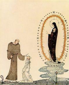 I am the Virgin Mary    Kay Nielsen illustration  Pinned for later from nielsen.artpassions.net.