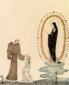 """Kay Nielsen - Illustrations for """"East of the Sun, West of the Moon"""": I am the Virgin Mary"""