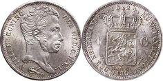 NumisBids: Schulman b.v. Auction 346, Lot 658 : KONINKRIJK DER NEDERLANDEN - WILLEM I 1815–1840 1 Gulden 1824 Hoofd...