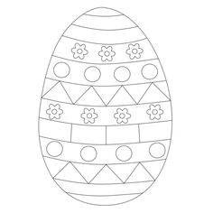Decorated Easter eggs for kids to color from www.kigaportal.com