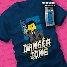 Shaken Not Stirred Bundle! On sale today for $12 at ShirtPunch.com #LEGO #SterlingArcher #Minifigure #TVseries #DangerZone