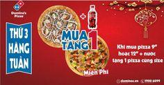 Thứ Ba thần thánh Dominos Pizza khuyến mãi mua 1 tặng 1