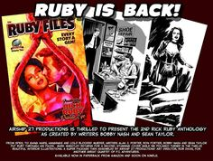 Rick Ruby is back! Great pulp stories by Bobby Nash, Sean Taylor, Ron Fortier, and Alan J. Porter. Stunning cover by Mark Wheatley with a dozen amazing interior illos by Nik Poliwko. The Ruby Files Vol. 2 pulp anthology from Airship 27 Productions is now available! www.amazon.com/dp/1946183180 www.createspace.com/7285657 www.amazon.com/dp/B0738H1XZT  Full press release at www.bobbynash.com and http://rickruby.blogspot.com