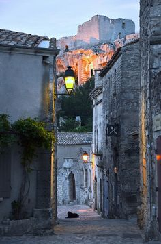 Evening in Baux de Provence, Provence, France