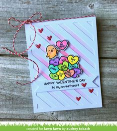Hello and welcome to Lawn Fawn's Valentine's release week! On December 14th our 3 new stamp sets, 7 new die sets, 5 new cardstock colors...