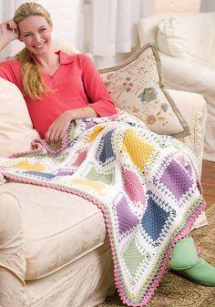 Ravelry: Tunisian Color Block Throw pattern by Glenda Winkleman - Crochet