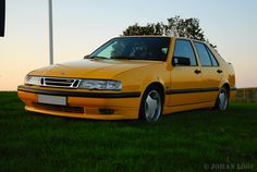 Monte Carlo Yellow SAAB 9000 Aero MY 1994