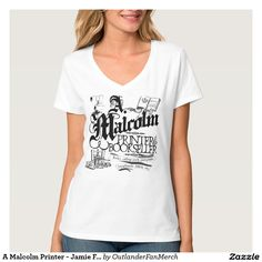 A Malcolm Printer - Jamie Fraser - Outlander T-Shirt Women's Hanes Nano V-Neck T-Shirt