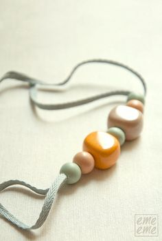 Necklace resin and ceramic beads