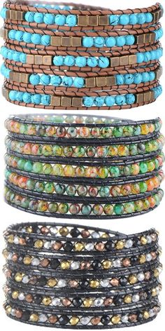 Florence Scovel has the most fashionable and unique collection of wrap bracelets. All piece we offer are hand-crafted. We are certain that you'll love our collection and find some which are perfect for you. Wire Wrapped Jewelry, Wire Jewelry, Boho Jewelry, Beaded Jewelry, Vintage Jewellery, Antique Jewelry, Jewlery, Jewelry Necklaces, Homemade Jewelry