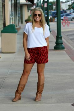 Double or Nothing Shorts - Red