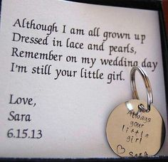 Wedding favor for mom and dad