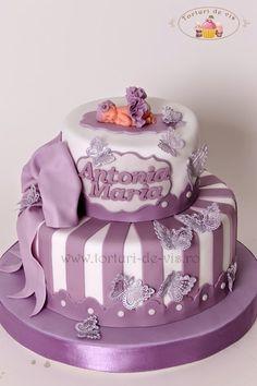 Torturi - Viorica's cakes: Tort botez Antonia