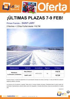 SAINT LARY Últimas plazas Fin de Semana 07 Febrero 2N+2FF desde 118,75€ ultimo minuto - http://zocotours.com/saint-lary-ultimas-plazas-fin-de-semana-07-febrero-2n2ff-desde-11875e-ultimo-minuto/