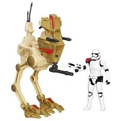 Product Info The Force awakens - here and now! Entertainment Earth brings you the Star Wars: The Force Awakens Desert Assault Walker with First Order Stormtrooper Officer - Entertainment Earth Exclusi Jouet Star Wars, Figurine Star Wars, Star Wars Vii, Star Wars Vehicles, Episode Vii, Star War 3, Star Wars Action Figures, Star Wars Toys, Star Wars Collection