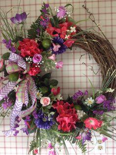Spring wreath ....summer also