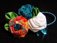 Fun Shabby Chic Tropical Punch Colors Handmade by MyRoseyCottage, $14.00
