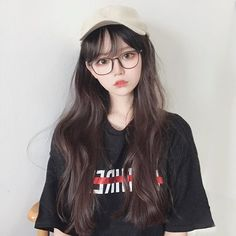 Korean Boys Ulzzang, Cute Korean Girl, Korean Beauty, Asian Beauty, Cute Girl Face, Uzzlang Girl, Japan Girl, Girls With Glasses, Asia Girl