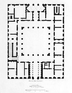 Floor plan of the Palazzo Farnese, Rome