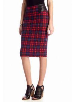 Jessica Simpson  Alisa Plaid Pencil Skirt