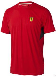 Koszulka Ferrari Mens Performance Tee - Red   FERRARI MEN \ T-SHIRT   Fbutik   Scuderia Ferrari Collection