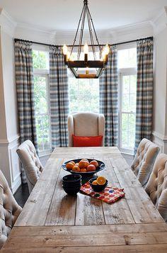 Farmhouse Dining Room. Farmhouse Dining Room with Rustic Table. Farmhouse Dining Room #Farmhouse #DiningRoom #RusticTable Lapis Ray Interior Design