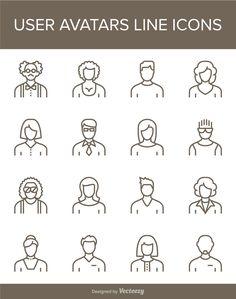 Free User Avatar Profile Icon Set AI EPS PNG SVG thanks @TmikeT