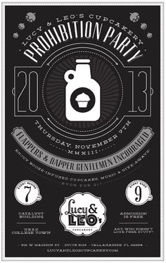 Prohibition Party Poster   Taproot Creative