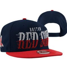 42c54fed6fd New Era Boston Red Sox 9FIFTY Sail Tip Snapback Hat - Navy Blue Red by